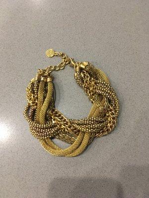 Armband Hallhuber Gold Blogger Fashion Schmuck Accessoires