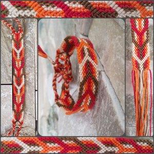 Friendship Bracelet orange-red