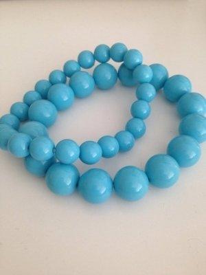 Armband hellblaue Perlen