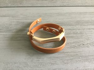 Armband in Cognac mit Gold