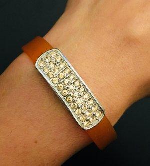 Armband in orange von Swarovski mit Steinchen