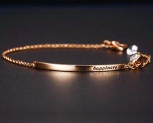 Armband in Rosegold 18 Karat plattiert mit Österreichischen Kristall Elegant ++ Neu ++