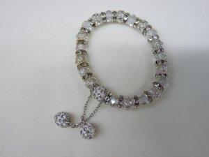 Pearl Bracelet white-light grey