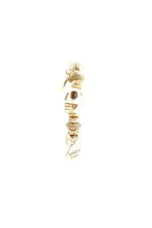 Armband kornblumenblau-goldfarben Rockabilly-Look