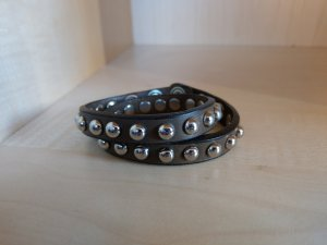 Armband Kunstleder braun schwarz Nieten Neu