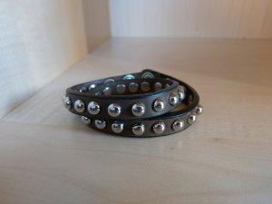 Bracelet en cuir brun noir