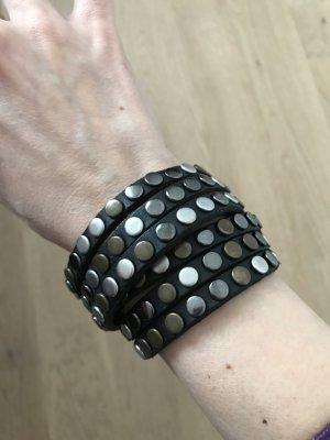 Armband Leder Nieten Liebeskind schwarz
