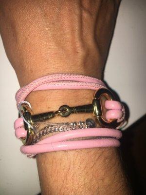 Armband Leder / Rosevergoldet