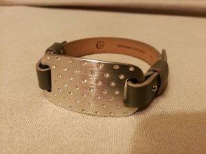 Armband Leder/Silber von Pierre Lang