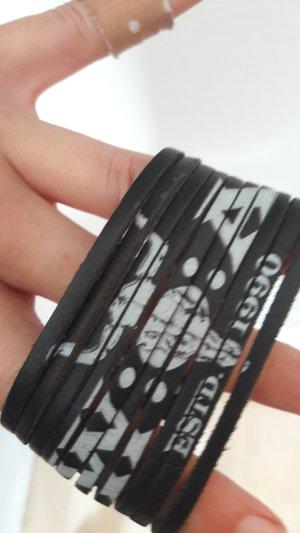 Armband Leder Wacken