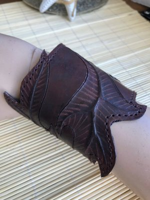 Leather Bracelet dark brown