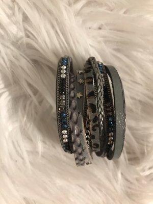 Leather Bracelet slate-gray-grey