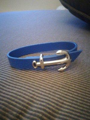 Braccialetto sottile blu acciaio