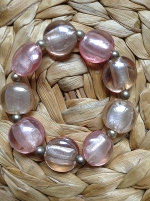"""Armband mit Glasperlen in rosé von """"I am"""""""