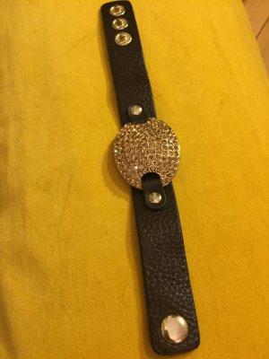 Armband mit Glitzerplakette