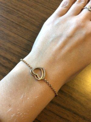 Armband mit Herz Gold Steinchen Diamore