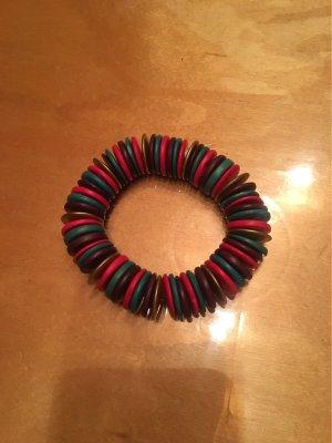 Armband mit Holz Scheiben Perlen