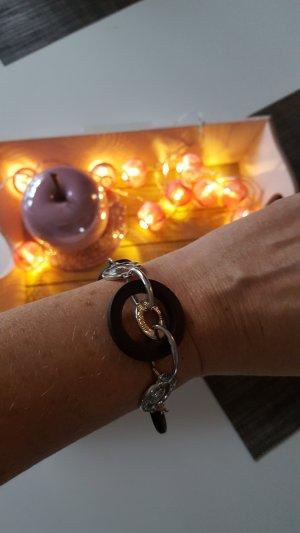 Armband mit Kreisen und Glitzer - denkt an Weihnachten :-)
