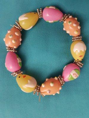 Armband mit Küken u Ostereiern - aus Glas #witziges it piece