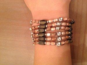 Armband mit Magneten in Bronze und anthrazit