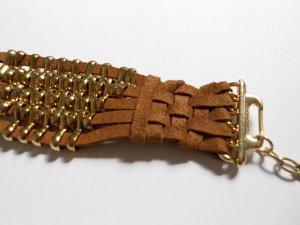Armband mit Metallklammern Braun