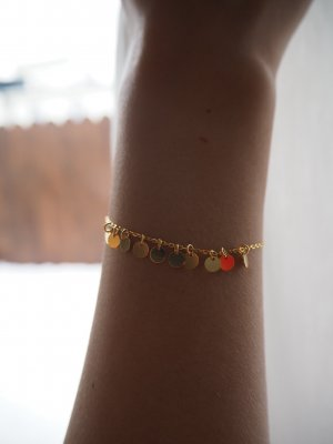 Armband mit Plättchen - Silber vergoldet