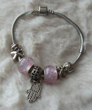 Armband mit rosa Beads - NEU