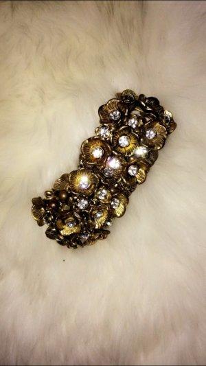 Armband mit Rosen in Goldoptik