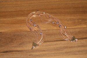 Armband mit Steinchen, vergoldet