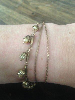 Pilgrim Bracelet gold-colored-pale yellow metal