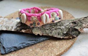 Armband mit Strasssteine und MuschelnHippie Boho