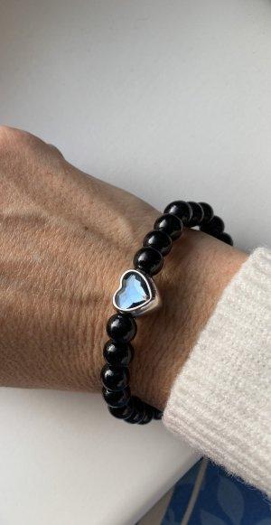 Armband neu  mit blauen Swarovski Herz Elements elastisch