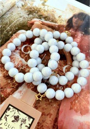 Bracciale di perle grigio chiaro