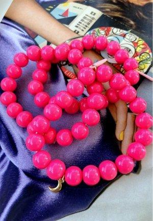 Braccialetto sottile magenta-rosa