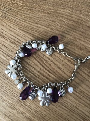 Charm Bracelet silver-colored-blackberry-red