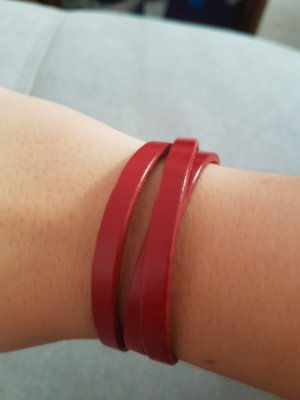 Juwelis Original Leather Bracelet dark red
