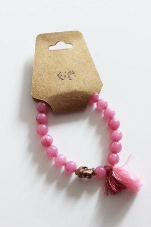Armband Perlen Rosa Pink Quaste Buddah Rose Blogger