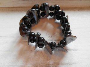 Armband Perlen und Muschel schwarz