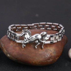 Armband Pferd Silber Edelstahl Schmuck ...Neu...