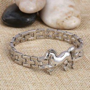 Armband Pferd Silber Edelstahl Western