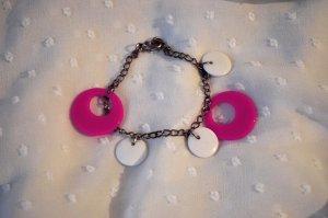 Armband Pink Weiß Retro Girly