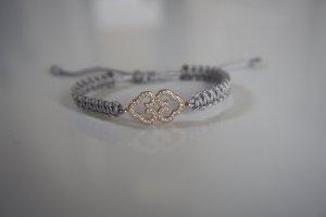 Armband Roségold Ornament Makramee