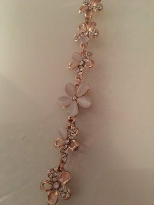 Armband rosegold weiß Blumen
