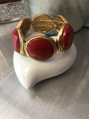 Braccialetto sottile oro-rosso