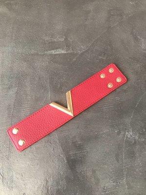Armband rood-donkerrood