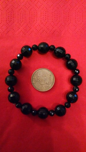 Bracelet black synthetic material