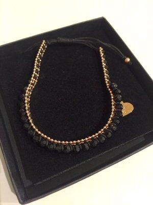 Armband Schwarz / Gold NEU