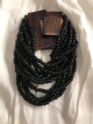 Armband schwarz Holz