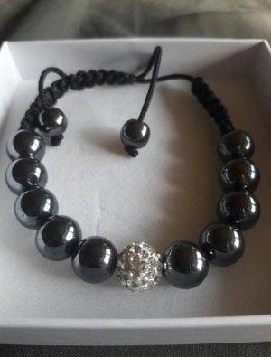 Armband schwarz mit Perlen und Steinchen von Kaufhof Schmuck Accessoires neu