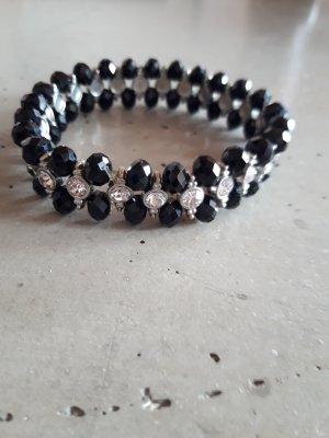 Armband schwarz mit Steinen
